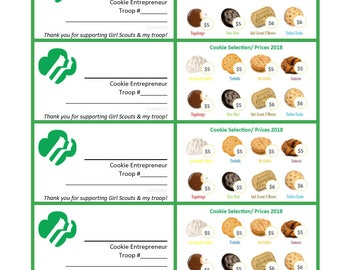 Girl scout cookie program business cards 45 pricing girl scout business card template colourmoves Image collections