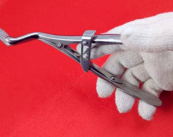 Frankenstein Powerful Jaw Gag Forceps, Strong Medical Mouth Gag | Rare Old Surgical Instruments, Antique Science Medical Collectibles Tools