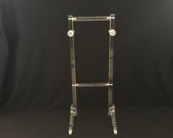 Vintage Mid Century Modern Lucite Acrylic Valet Stand