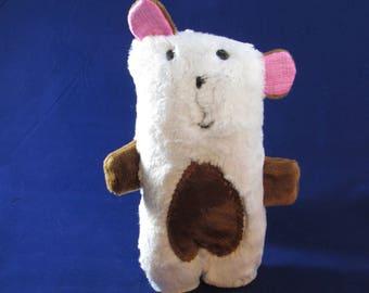 Baby's bear, stuffed animal, Bailey the Bear, Wendi Gratz design, cuddle me bear, soft toy, furry bear, minky bear, small cuddly soft toy