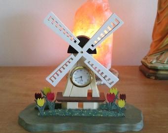 Dutch Windmill Mini Clock
