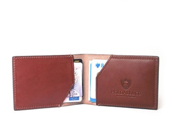 Made In England - Slim Cardfold Case, in Chestnut Bridle Leather