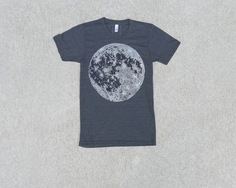 Mens Moon Shirt Graphic Tee, BlackbirdSupply