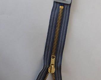 15 cm dark blue zipper