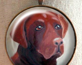Chocolate Lab Keychain ~ April Birthday ~ Pet Keepsake ~ Labrador Retriever ~ Dog Dad Gift ~ Dog Keychain