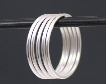 Thin Sterling Silver Plain Stackable Ring(s), Handmade Stacking Rings - Sold Individually