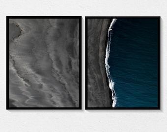 Ocean & Dunes Prints - Digital Download - Icelandic Scandinavian Nordic - Photography Minimal Wall Art