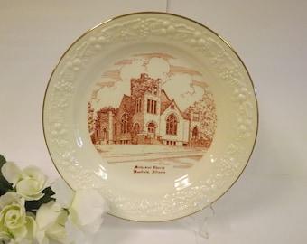 Methodist Church Plate Methodist Church Westfield Illinois Commemorative Plate