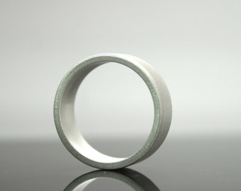 Sterling Silver Matte Finish Ring - 6 mm Wide Band - Minimalist - Simple Wedding Band For Men or Women - Eco Friendly Jewelry - Custom Made