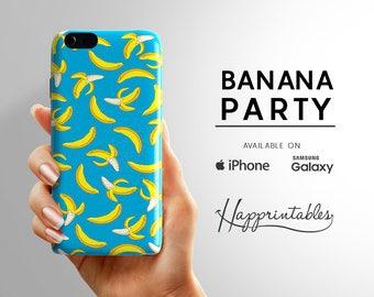 Phone case Banana Party iPhone 7 - iPhone SE - iPhone Plus - iPhone 6/6S - iPhone 5/5S - iPhone 5C - Samsung Galaxy S5 - S6 Edge, phone case
