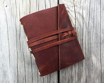 Leather Notebook - Rustic Whisky -  3.5 x 4.5