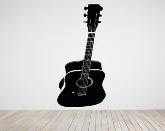 Wall Decal Sticker Acoustic Electric Guitar Punk Rock Alternative Music Melody Band Jazz Dj Composer Notes Piano ZX445