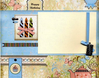 Happy Birthday - 12x12 Premade Scrapbook Page