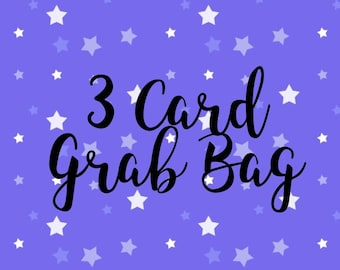 3 Card Grab Bag Mystery Box greeting cards gift just because birthday surprise