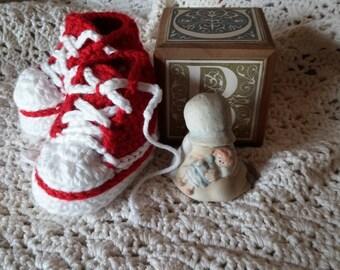 Crochet Hi-Tops 0-3 Months