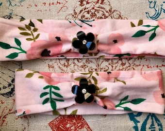 Pink Headbands with Accessories (Customizable) Newborn-Adult Sizes