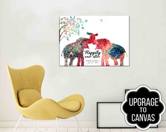 Personalized Canvas Gifts Personalized Gift as a Gallery Wrapped Canvas Art Birth announcement - Christmas - Housewarming - Canvas Prints