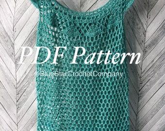 Crochet summer vest pattern/ Crochet lacy top/ Crochet summer blouse/ Crochet summer top pattern/ Summer top crochet pattern/ Lacy top