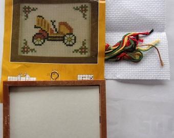 CAR old JALOPY art cross stitch KIT A BRODER 2306