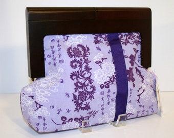 Purple Clutch Purse, Wooden Clutch Frame Bag - Stella Clutch