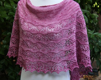Hand Knitted Lace Shawl/Wrap