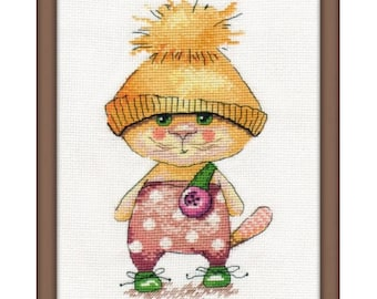 Cross stitch kit Ginger cat