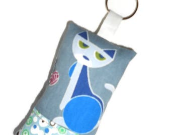 Keychain fabric cats 1