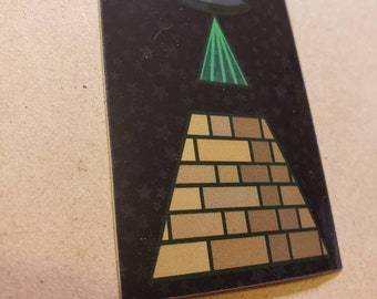 Alien Illuminati UFO Pyramid Sticker
