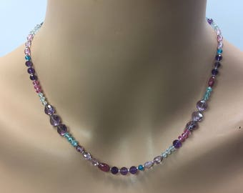 Multigemstone Necklace in Sterling Silver