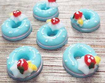 3pcs.18mm.Miniature Doughnuts Cabochon,Miniature Sweet,Cabochon,Resin,Miniature Doughnuts,Mobile Accessories,Cabochon Sweet,Doughnuts Resin