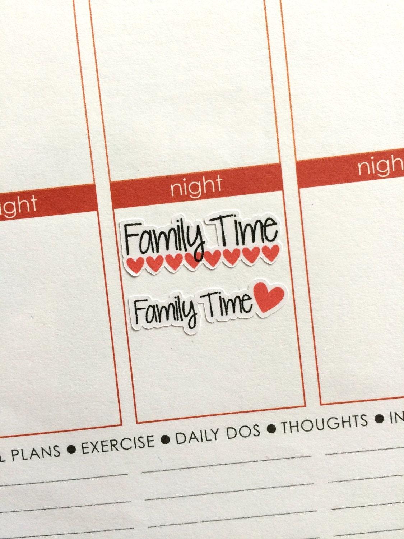 family day planner