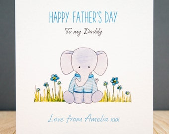 Personalised Father's Day Card - Elephant