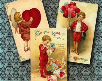 Vintage Valentine Downloadable Collage Sheet 4