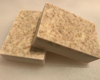 Oatmeal and Honey goats milk soap bar
