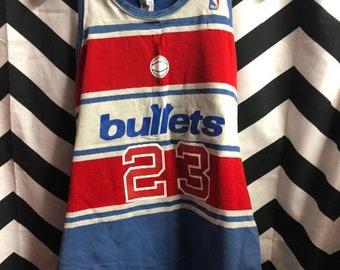 Vintage Nba Washington Bullets Basketball Jersey #23
