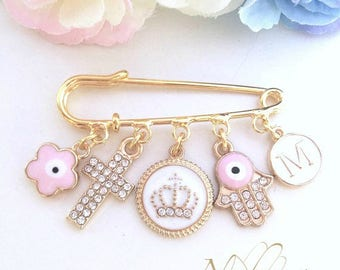 Baby Blessing Gift, Gold Baby Pin, Baby Brooch, Baptism Gift Girl, Stroller Pin, Baby Gift, New Baby Gift, Gift for Baby Girl