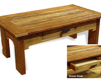 Reclaimed barn wood Rustic Whip Saw Coffee Table