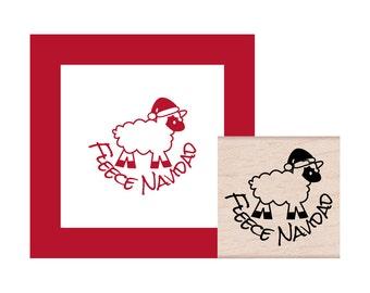 Fleece Navidad Rubber Stamp