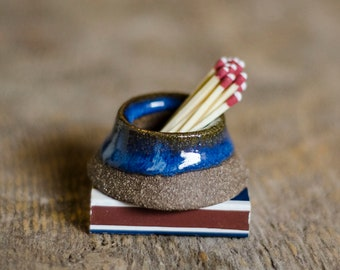 Ceramic Match Striker, Husband Gift, Mindfulness Gift, Handmade Pottery, Housewarming Gift, Match Holder,  Fire Striker, Housewarming