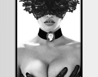 Mode zu drucken, print, Mode moderne, Chanel, minimalistisch, digitale Kunst, Frau, Druck, Digital Druck Instant Download 16 x 20, 18 x 24
