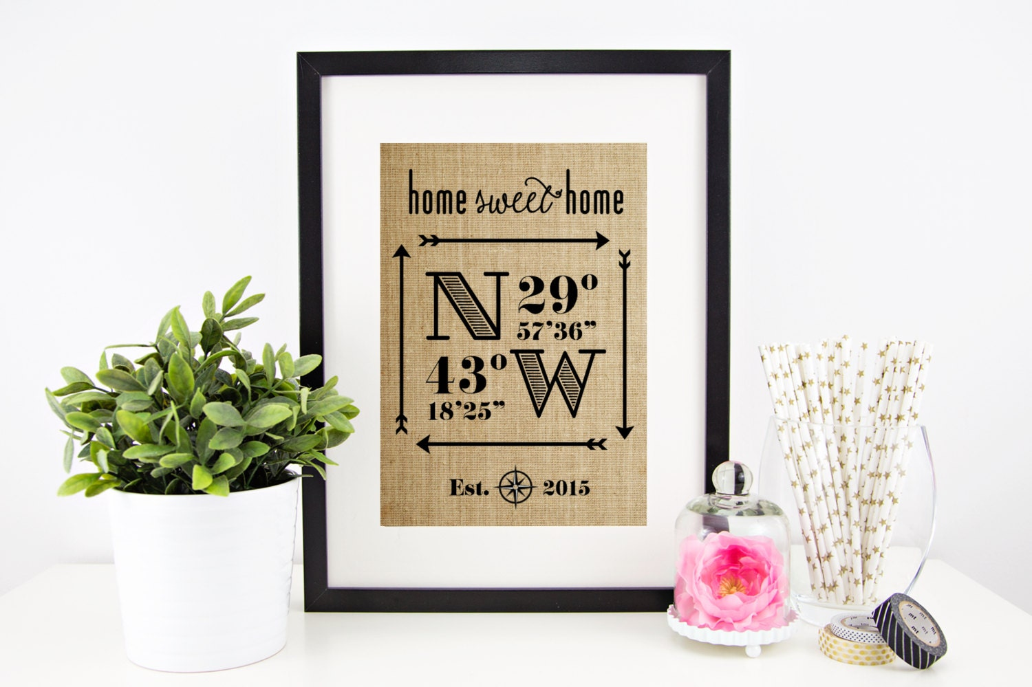 New home housewarming gift wedding gifts for couple latitude zoom negle Image collections