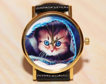 Watch kitten, cat watch, children's watches, ladies watches, celebratory watches, watch birthday, favorite Watch, watch animals