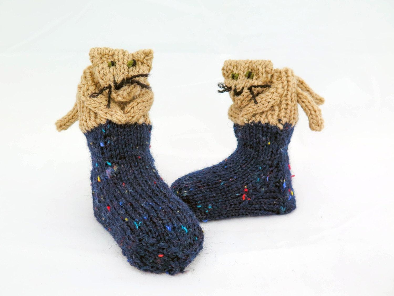 KNITTING PATTERN, Novelty Baby Socks , Cat Socks, Toddler Socks ...