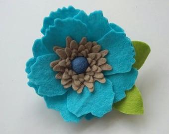 Flower Brooch, felt flower,brooch,flowers,floral brooch, accessory,large flower brooch