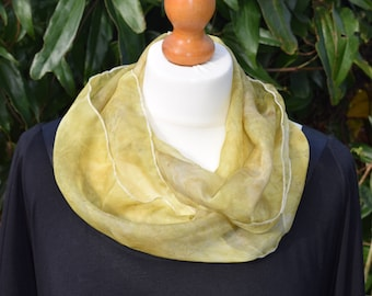 Hand-dyed Silk Infinity Scarf