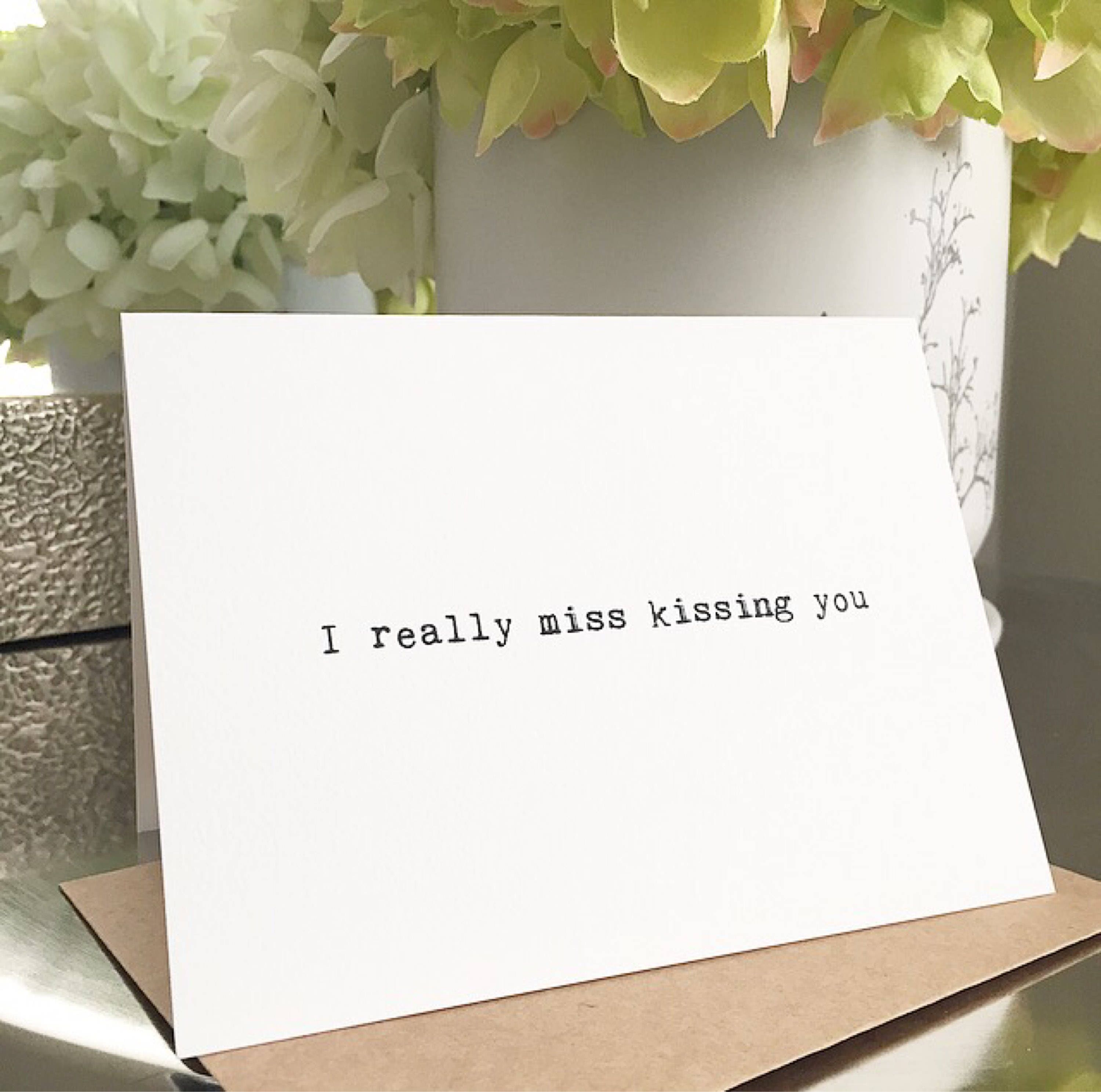 I miss you card/Long distance card/Card for girlfriend/Card