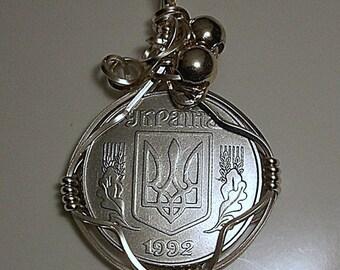 Ukraine  Coin Pendant 1992