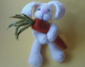 PATTERN PDF -To Felt Or Not To Felt Crocheted White Rabbit and Carrot Amigurumi Pattern