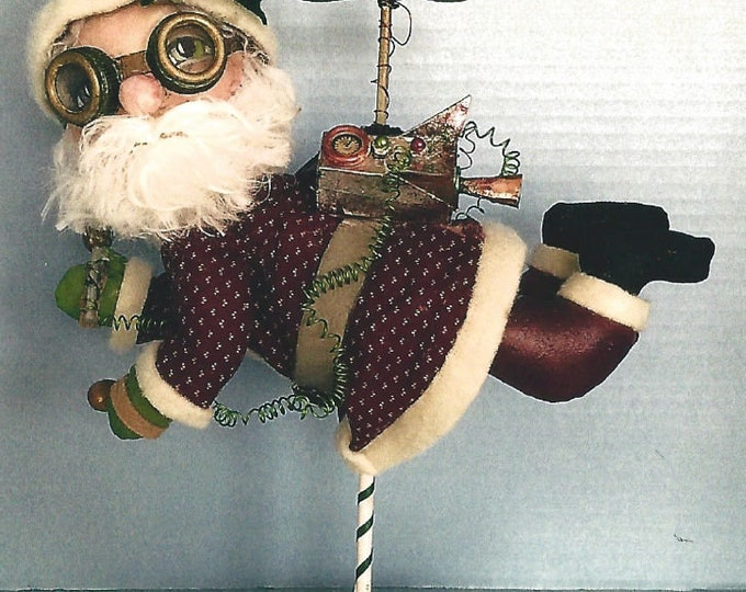 SE904E - Jet Pack Santa –  Steampunk Santa Doll, Art Doll Pattern - PDF Download by Susan Barmore