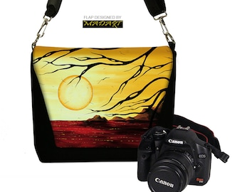 Womens Padded Camera Bag Dslr Camera Bag Slr Camera Bag Purse Deluxe Model MADART Golden Harmony red yellow black RTS